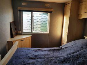 Schlafzimmer vom privaten Mobilheim Ferienhaus in Burgh Haamstede in Zeeland